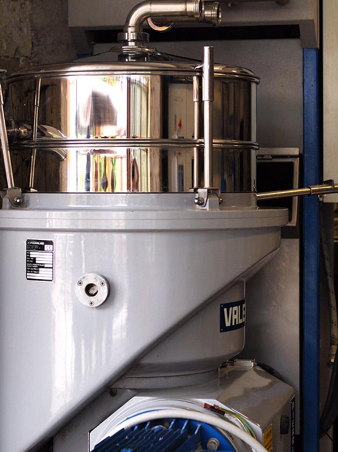 matériel d'extraction tel que la cuvée à l'ancienne
